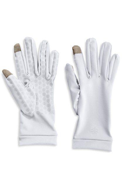 Coolibar---UV-werende-handschoenen-voor-volwassenen---Gannett---Wit