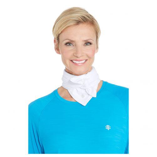 Coolibar---UV-werende-sportbandana-voor-volwassenen---Virasana---Wit