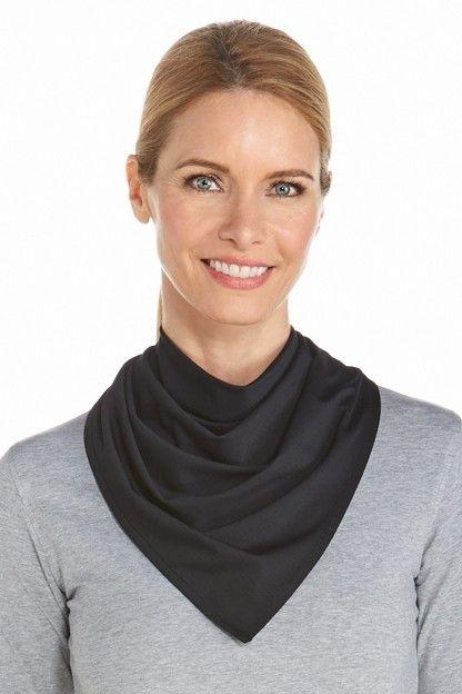 Coolibar---UV-werende-sportbandana-voor-volwassenen---Virasana---Zwart