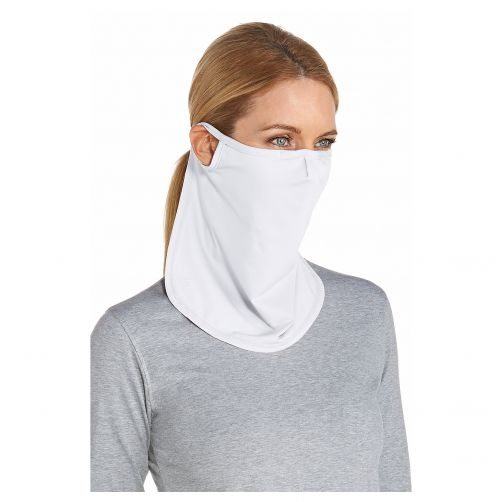 Coolibar---UV-werend-Gezichtsmasker-voor-volwassenen---Crestone---Wit