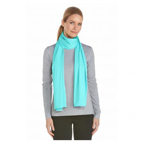 Coolibar---UV-sjaal---Cool-aqua-blauw