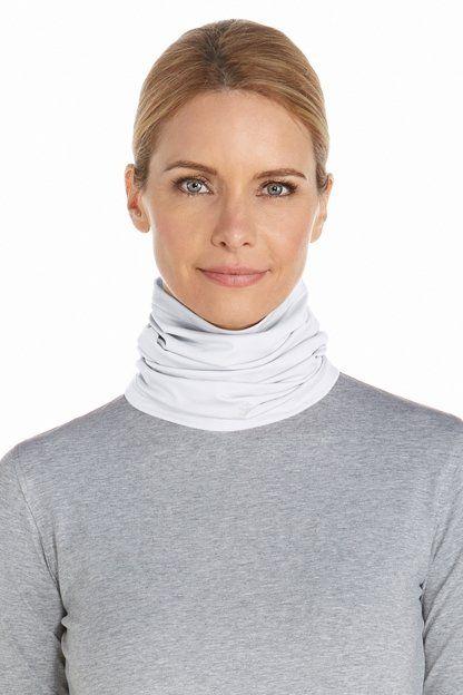 Coolibar---UV-werende-nekflap-voor-volwassenen---La-Plata---Wit