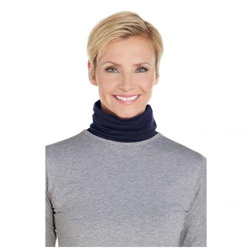 Coolibar---UV-werende-halsbescherming-voor-volwassenen---Key-West---Navy
