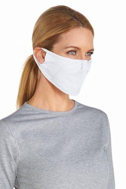 Coolibar---UV-werend-Masker-voor-volwassenen---Blackburn---Wit