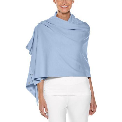 Coolibar---UV-omkeerbare-sjaal---vintage-blauw