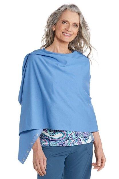 Coolibar---UV-beschermende-omkeerbare-sjaal---Blauw