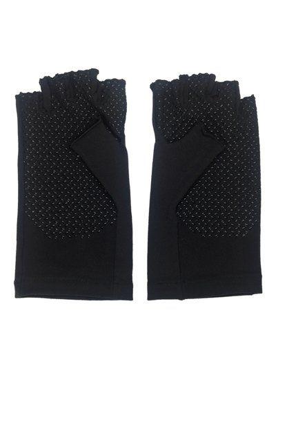 Coolibar---UV-vingerloze-handschoenen---Zwart