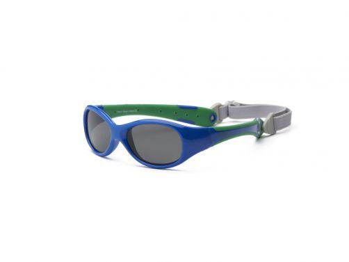 Real-Kids-Shades---UV-zonnebril-baby---Explorer---Royal-blauw-/-groen