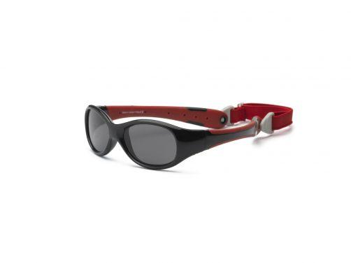 Real-Kids-Shades---UV-zonnebril-voor-baby's---Explorer---Zwart-/-rood