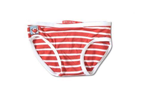 Little-Red-Fish---bikini-broekje---Red/White-Stripes