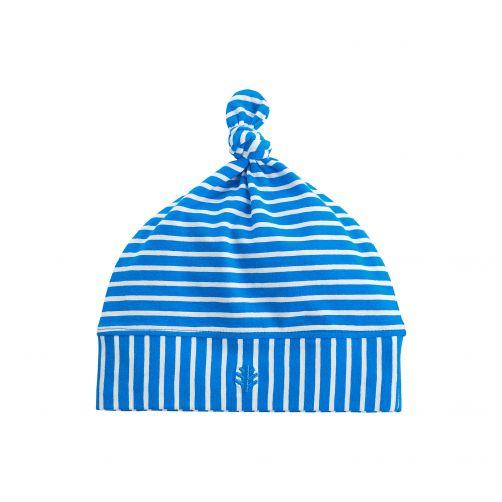 Coolibar---UV-mutsje-voor-baby's---blauw-wit-gestreept