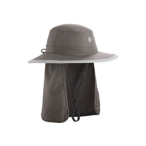 Coolibar---UV-hoed-voor-kinderen---donkergrijs