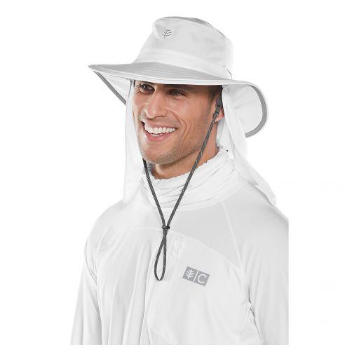 Coolibar---Multi-inzetbare-UV-Hoed-met-nekflap-voor-volwassenen---Boating---Wit