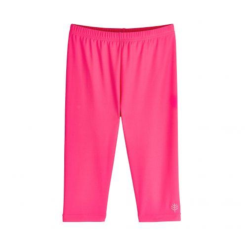 Coolibar---UV-zwemcapri-voor-meisjes---roze