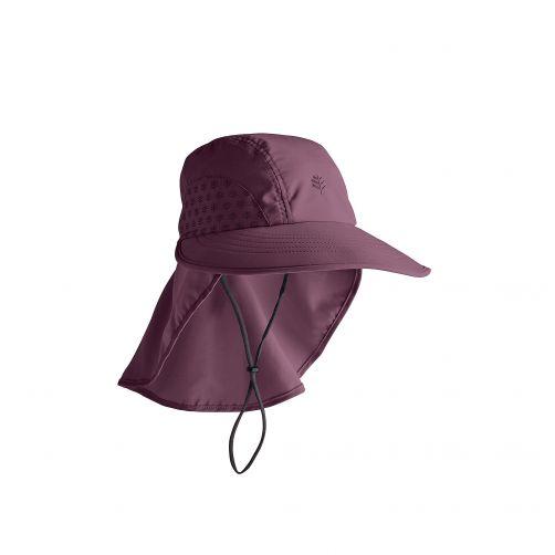 Coolibar---UV-hoed-voor-kinderen---vijgkleurig-(dieppaars/rood)
