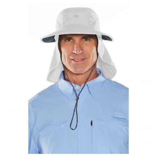 Coolibar---UV-hoed-voor-dames-en-heren---lichtgrijs