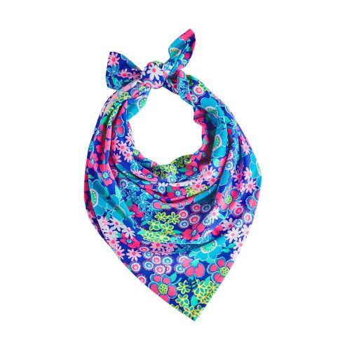 Coolibar---UV-bandana-voor-meisjes---bloemen