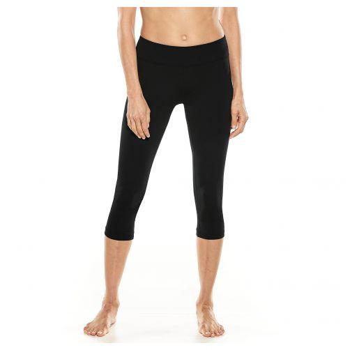 Coolibar---UV-zwemcapri-voor-dames---zwart