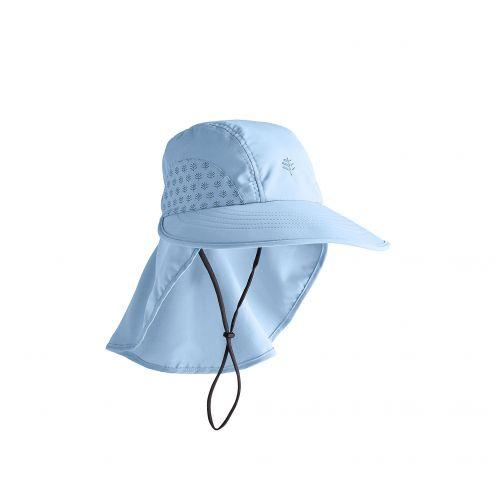 Coolibar---UV-hoed-voor-kinderen---lichtblauw