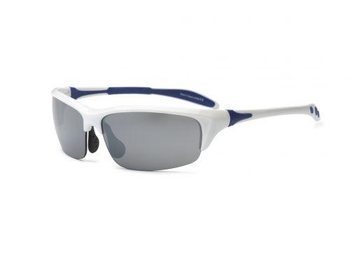 Real-Shades---UV-zonnebril-volwassenen---Blade---Wit-/-Navy-blauw