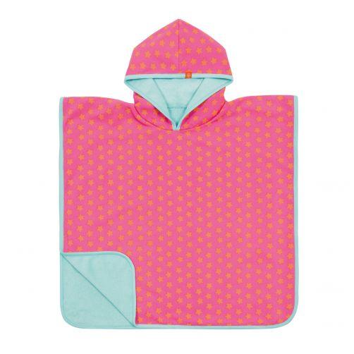 Lässig---Badcape-voor-kinderen-Star---Roze/Perzik