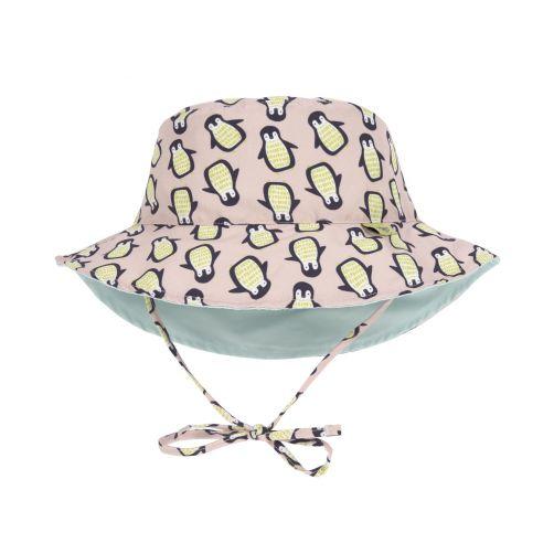 Lässig---UV-hoed-baby's-peuters-omkeerbaar---Pinguïn---perzik-mint