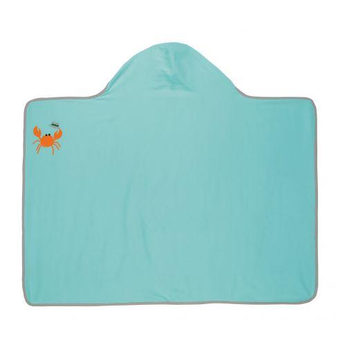 Lässig---Handdoek-met-capuchon-voor-kinderen-Star-Fish---Lichtblauw