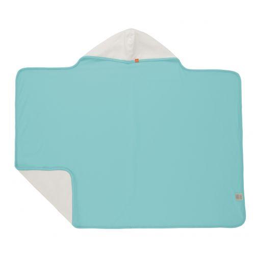 Lässig---Handdoek-met-capuchon-voor-kinderen---Lichtblauw/Wit