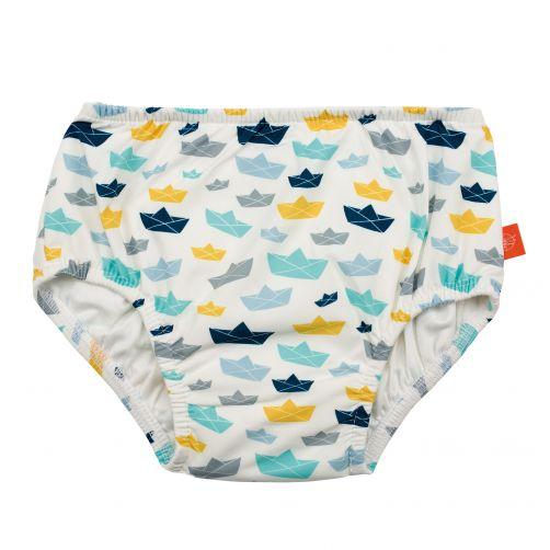 Lässig---Zwemluier-voor-baby's-Boat---Wit/Blauw/Geel