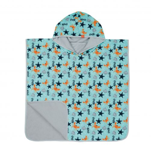 Lässig---Badcape-met-capuchon-Star-Fish---Lichtblauw