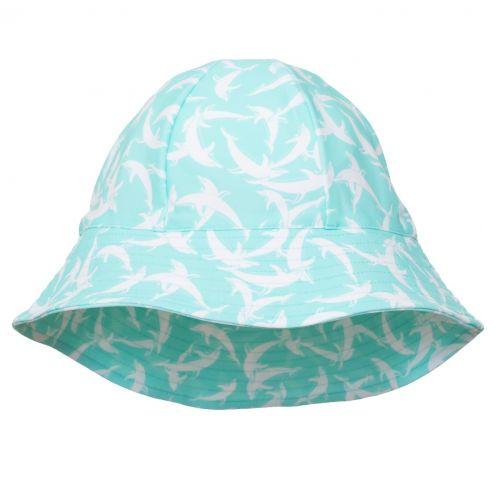 Petit-Crabe---UV-werende-zonnehoed-voor-kinderen---Dolfijn---Mint