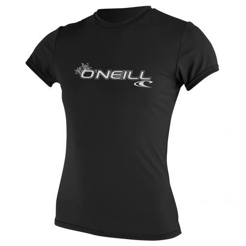 O'Neill---UV-werend-T-shirt-voor-dames-slim-fit---zwart