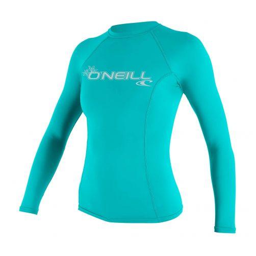O'Neill---UV-shirt-voor-dames---Longsleeve---Basic-Rash---Aqua