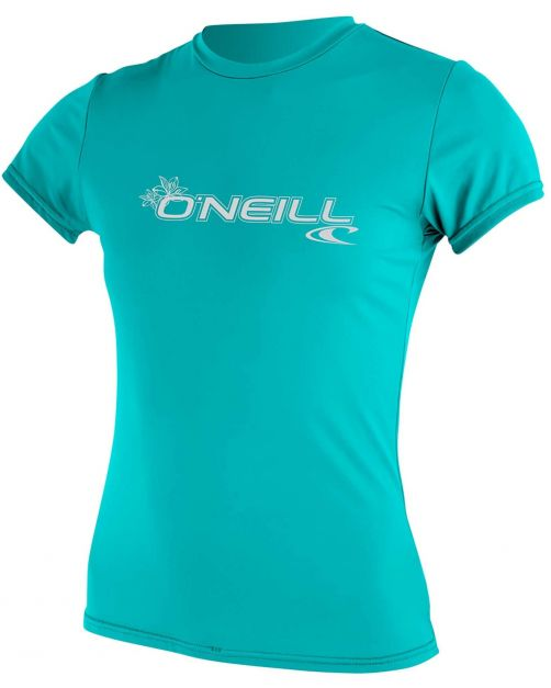 O'Neill---UV-shirt-voor-dames-met-korte-mouwen---Basic-Sun---Aqua