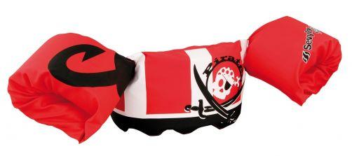 Puddle-Jumpers---Verstelbare-zwembandjes-met-piraat---Rood/Wit