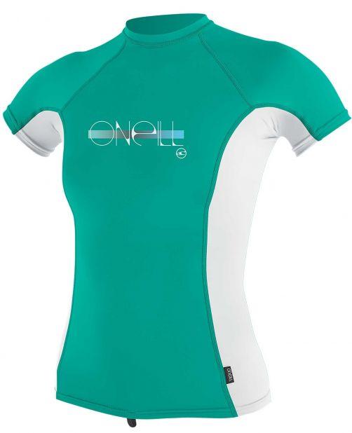 O'Neill---UV-shirt-voor-meisjes-met-korte-mouwen---Premium-Rash---Baltisch-groen