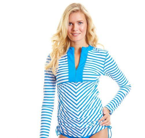 Cabana-Life---Ruched-zwemtop---blauw-gestreept