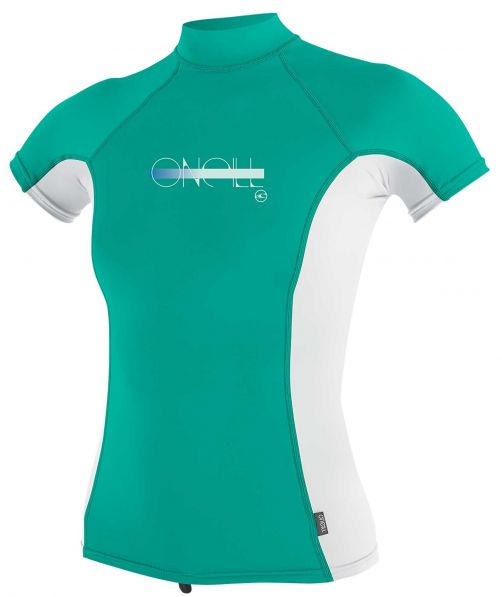 O'Neill---UV-shirt-voor-meisjes-met-hoge-hals---Premium-Rash---Baltisch-groen
