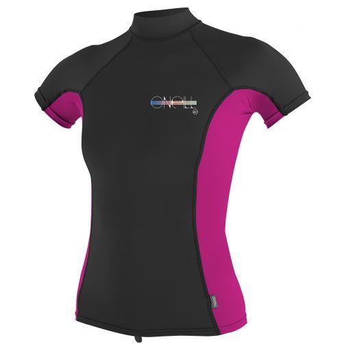O'Neill---UV-werend-T-shirt-voor-dames---multicolor-(zwart,-roze)