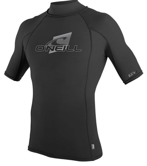 O'Neill---UV-shirt-voor-heren-met-hoge-hals---Premium-Rash---Zwart