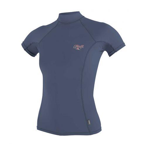 O'Neill---UV-shirt-voor-dames-met-hoge-hals---Premium-Rash---Grijsblauw