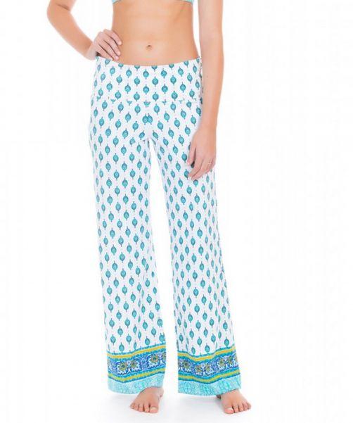 Cabana-Life---UV-Strandbroek-voor-dames---Groen/Wit