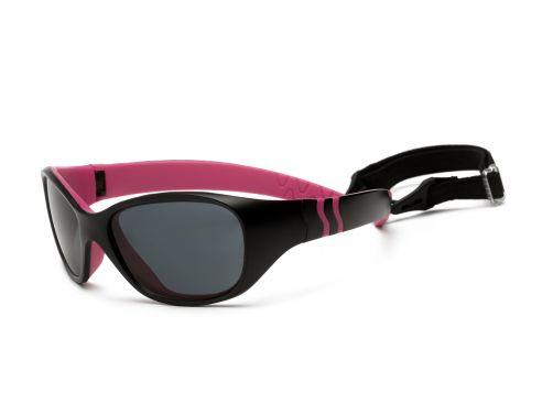 Real-Kids-Shades---UV-zonnebril-kleuter---Adventure---Zwart-/-roze