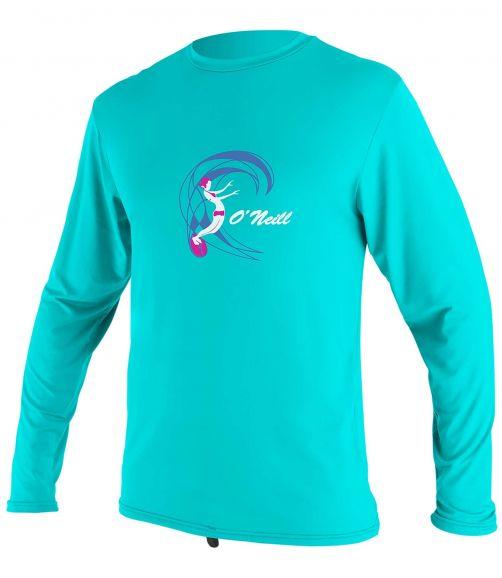 O'Neill---UV-shirt-voor-meisjes---Longsleeve---O'Zone-Sun---Lichtaqua