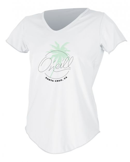 O'Neill---UV-shirt-voor-dames-met-korte-mouwen---Graphic-Sun---Wit