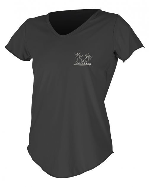 O'Neill---UV-shirt-voor-dames-met-korte-mouwen---Graphic-Sun---Zwart