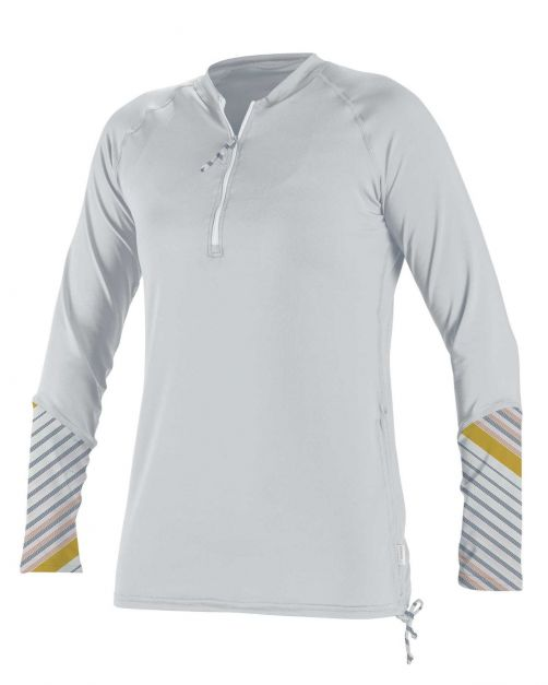 O'Neill---UV-shirt-voor-dames---Longsleeve---Front-Zip---Wit