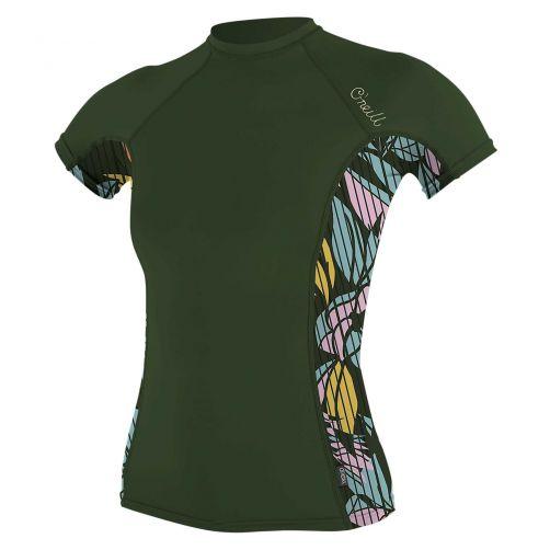 O'Neill---UV-shirt-voor-dames-met-korte-mouwen---Rash-Guard---Olijfgroen