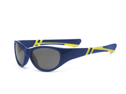 Real-Kids-Shades---UV-zonnebril-kind---Discover---Navy-blauw-/-geel