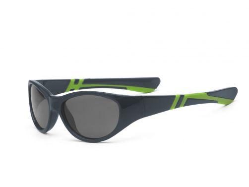 Real-Kids-Shades---UV-zonnebril-kind---Discover---Grafiet/limoengroen